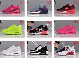 Wholesale Cheap Girls Black Leather Shoes - free shipping 90 Children's Shoes Boys Girls Running Shoes Cute Kids 100% Original Athletic Babys 2016 New Trainers Cheap Size 11C-3Y