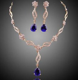 Wholesale Classics Beaded Earrings - Shinning Rhinestones Bridal Jewelry Set Bling Beaded Cheap Bride Wedding Party Earring Bracelet Necklace Jewel Set Birdal Accessories