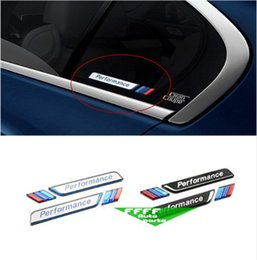 Wholesale Bmw X1 Car - Car window stickers fender badge for BMW E36 E90 X1 X3 X5 F10 F20    Performance emblem body decorative 3D sticker