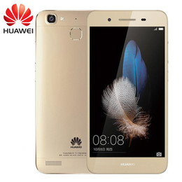 Wholesale Cdma Inch Phone - Original Huawei Enjoy 5S Mobile Phone MTK MT6753T Octa Core 2GB RAM 16GB ROM Android 5.1 5.0 inch 13MP Fingerprint ID 4G FDD-LTE Smart Phone