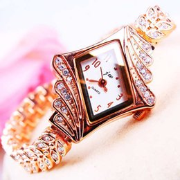 Wholesale Ladies Bracelet Watch Fashionable - 2016 Fashionable female butterfly chain diamond bracelet watch ladies watches female student waterproof Ms. decorative table