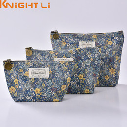 Wholesale Girl Big Flower Bag - Wholesale- Women Make Up Bags Flower Polyester Zipper Cosmetic Case Simple Casual Girls Big Lady Pouch Storage Travel Organizer Y3