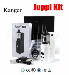 Wholesale Chrome Mod Kit - 100% Authentic Kanger Juppi Starter Kit 3ML with Juppi Tank 75W Juppi TC Box Mod supports Ni Ti SS316 and Ni-Chrome kone kit