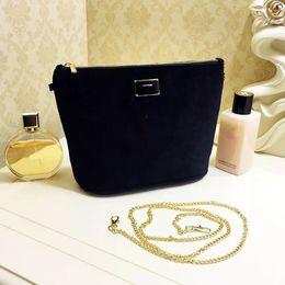 Wholesale Brand S Handbags - velvet handbag with brand logo pattern soft storage bag makeup bag with chain
