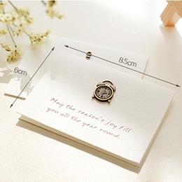 Canada Cartes de souhaits vintage pour anniversaire Noël Nouvel An Thanksgiving Day Gift Card en métal décoration pliée Festival carte Mini 12 modèles Offre