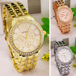 whole designer watches for men online whole distributors new geneva luxury created diamond stainless steel gold watch for men 5 colors fashion designer brand casual cheap quartz watches 117
