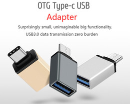 Wholesale Usb Otg Adapter - Metal USB 3.1 Type C OTG Adapter Male to USB 3.0 A Female Converter Adapter OTG Function for Macbook Google Chromebook