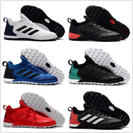 Wholesale Indoor Turf Football Shoes - Wholesale 2017 adidas ACE Tango 17+ Purecontrol TF cheap indoor soccer shoes football boots low menS soccer cleats turf futsal Free shipping