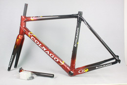 Wholesale Deep Frames - Carbon road bike frame C60 T1000 road frame deep red color bike frame many colors for choosing cadre carbone route 2017