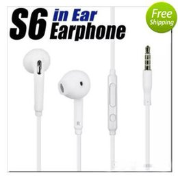 Wholesale Remote Control Noise - In-Ear headphone White Earphone Earbuds with Remote control MIC for Samsung Galaxy S6 S7 Earphone Earbuds iphone 6 5 headset Universal