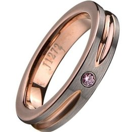 Wholesale Tungsten Couples Wedding Rings - 6MM Size 5-15 Tungsten Carbide Ring Rose Gold Plated Cubic Zirconia Brushed Matte Wedding Engagement His Her Couple Anniversary