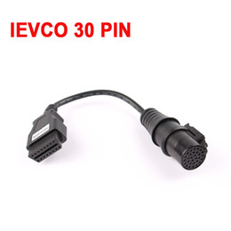 Wholesale Diagnostic Tool Iveco - Wholesale-2016 Scanner Adapter iveco 30 pin truck cable 30 pin to 16pin IVECO OBD 2   OBD II Connector For CDP Trucks Diagnostic Tool
