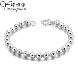Wholesale Agate Rosary Beads - Hot style copper bracelet full glossy white rosary beads bracelet Ms. Korean fashion jewelry
