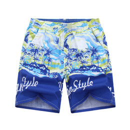 Wholesale Hawaiian Shorts - Wholesale-2016 Summer Men's Cotton Beach Shorts Personality Printing Mens Hawaiian Shorts Boardshort Surf Quick-drying Pants P108