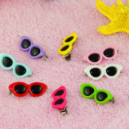 Wholesale Hairpins Teddy - 50pcs Colorful Pet Dog Sunglasses Hair Clips Cute Doggy Puppy Hairpin Grooming Supplies Teddy Hair Accessory Cat Hair Ornaments