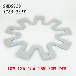 Panel circular led 12w online-envío LED PANEL círculo de luz AC85-265V SMD5730 12W 15W 18W placa de techo 24w LED redonda circular de la lámpara + fuente de alimentación + Magnética