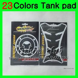 Wholesale Honda Cbr 954 Rr - 23Colors 3D Carbon Fiber Gas Tank Pad Protector For HONDA CBR954RR 02 03 CBR900RR CBR 954 RR 900RR CBR954 RR 2002 2003 3D Tank Cap Sticker
