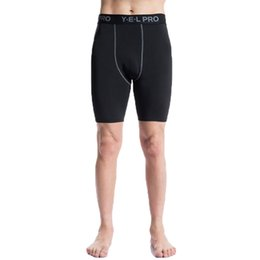 Wholesale Wholesale Basketball Clothing Sports - Wholesale-Newest Summer Compression Tights Shorts Men PRO Clothing Spandex Quick Dry Training Running Basketball Shorts Sports Wear
