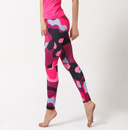 Wholesale Womens Compression Pants - Wholesale-Camouflage Print Quick Dry Compression Pants Womens Yoga Sport Running Gym Trousers Fitness Leggings Athletic Joggers