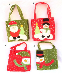 Wholesale Candy Kids Favors Bags - Christmas Snowman Santa Claus Candy Gift bag Treat Bags Kids Present Wrap favors Bag party Holiday decor red Gift Wrap festive supplies