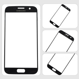 cámara de la casa blanca Rebajas Para Samsung S7 Gold Blue (negro) Blanco Reemplazo LCD Pantalla táctil frontal Lente externa de vidrio para Samsung S7 DHL SNP021 gratis