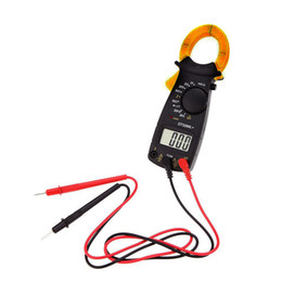 Wholesale Clamp Voltage Meter - AC DC Voltage LCD Digital Clamp Multimeter Electronic Buzzer Tester Meter B00236 BARD