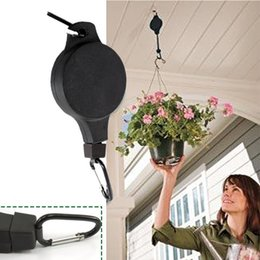 Wholesale Hanging Pulleys - Retractable Pulley Hanging Basket Pull Down Hanger Garden Baskets Plant Pots