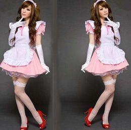 Wholesale Sexy Maid Costumes Pink - Japan Sexy Pink maid service Take princess Lolita dress cosplay Halloween costume