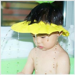 Wholesale Kids Shampoo Wholesale - 2016 Eva baby Safe Shampoo Shower Bath Protection Soft Caps Baby Hats For Kids 0-6 years