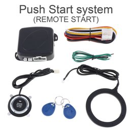 Wholesale One Way Auto Alarm - Universal 12V Auto RFID Car Alarm System & Warded lock Anti-theft Push Start System CAL_10D
