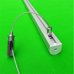 Runde pcb geführt online-Freies Verschiffen hängende Art runde geführte Aluminiumprofil für LED-Streifen, milchig / transparente Abdeckung für 17mm pcb mit Beschlägen CC-2020