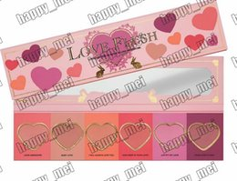 Wholesale Wardrobes Free Shipping - Factory Direct DHL Free Shipping New Makeup Face Love Flush Blush Wardrobe Heart Shaped Palette 6 Colors Blush!