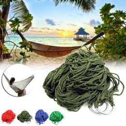 Wholesale hammock swing nylon - Style Mesh Nylon Hammock Hanging Outdoor Garden Swing Sleeping Bed Swing Strong Hammock for Camping   Hiking   B