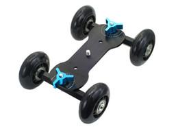 Wholesale Dolly For Dslr Video - Wholesale- Pro Table Top Dolly Mini Car Skater Track Slider For DSLR Video Film 700D 7D 70D Black