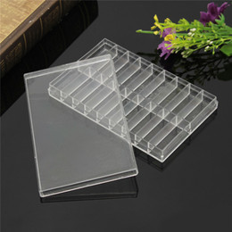 Wholesale Transparent Boxes For Beads - Wholesale-Excellent Quality 18 Grid Transparent Plastic Storage Case Box For Watch Pin Spring Bar Screw Bead Watch Tool Box