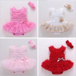 Wholesale Lace Tulle Material - Newborn Baby Princess Puff Skirt Cute Baby Headband Comfort Mesh Material Leisure Set (Headband + Skirt)