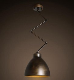 Wholesale Arm 15 - Loft Vintage Industrial Wind Manipulator Arm Ceiling Lamp Bar Cafe Clothing Store Iron Telescopic Ceiling Light