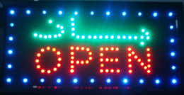 Wholesale Business Advertising Signs - 2016 direct selling Ultra Bright Arabic store Advertising Light sign led business shop open signage 25*48CM wholesale
