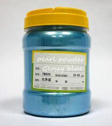 Polvo de perla natural online-500g lustroso azul natural mica perlado Pigmento perlado polvo hierro cobre pintura polvo muebles polvo acrílico pigmen