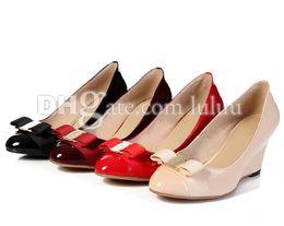 Wholesale Comfort Shoes Pump - 2016 women wedges shoes brands designer shoes fashion women pumps designer summer new women high heels metal head casual comfort sexy shoes