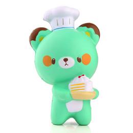 Wholesale Panda For Kids - New Bear 14CM Kawaii Jumbo Panda Pastry Chef Squishy Charm Bread Soft Slow Rising Kid Toy Gift Cartoon Cake Bun