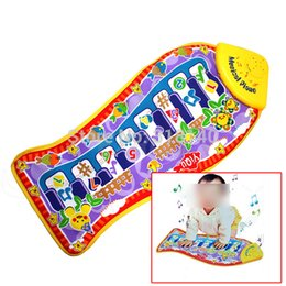 Wholesale Fishing Games Toy - Piano Game Educational Music Toy Blanket Mat Pad Fish Shape Cute Toy For Baby