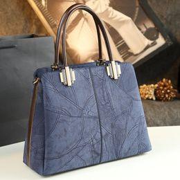 Wholesale Casual Dress Shops - European Fashion Genuine Leather Women's Handbag Tote Shouler Shopping Bags