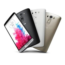 "Wholesale Android Cell Phone G3 - Original Unlocked LG G3 D855 D850 Cell Phones 5.5"" Andriod4.4 Quad Core 2G 16G 13MP NFC Andriod Refurbished Phone DHL free"