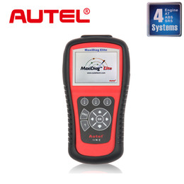 Wholesale Transmission Airbags - Wholesale-Autel Maxidiag Elite MD802 4 systems Update Via Internet Engine + Transmission + ABS + Airbag Autel MD802 Diagnostic Tool