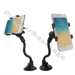 Wholesale Cell Phone Clamp - High Quality Long Arm Universal Windshield Dashboard Cell Phone Car Holder with Strong Suction Cup and X Clamp for Iphone Samsung etc