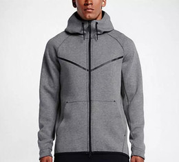 Wholesale New Sport Hoodies - 2017 new autumn winter Large size MEN'S HOODIE SPORTSWEAR TECH FLEECE WINDRUNNER fashion leisure sports jacket running fitness jacket coat
