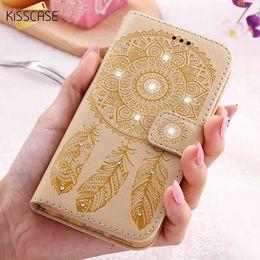 Wholesale Blue Flowers Case - KISSCASE Flower Leather Case For iPhone 8 7 6 6S Plus SE iPhone8 Wallet Cases For Samsung Galaxy S8 Plus S7 S6