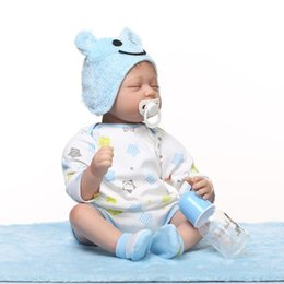 Wholesale Newborn Clothing For Cheap - Retail 55cm 22inch Cheap Reborn Dolls Sleeping Reborn Doll With Comfortable Baby Doll Clothes Best Acompany Friend For Children