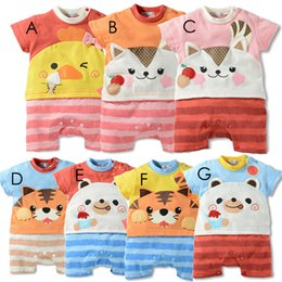 Wholesale Cheap American Sportswear - 2016 Summer Cheap Infants And Young Children With Short Sleeves Baby Crawl Sportswear Boys And Girls Clothes Size 0-24M New product